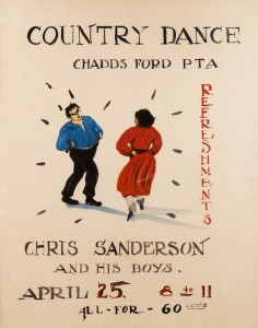 Poster, Chadds Ford PTA Country Dance