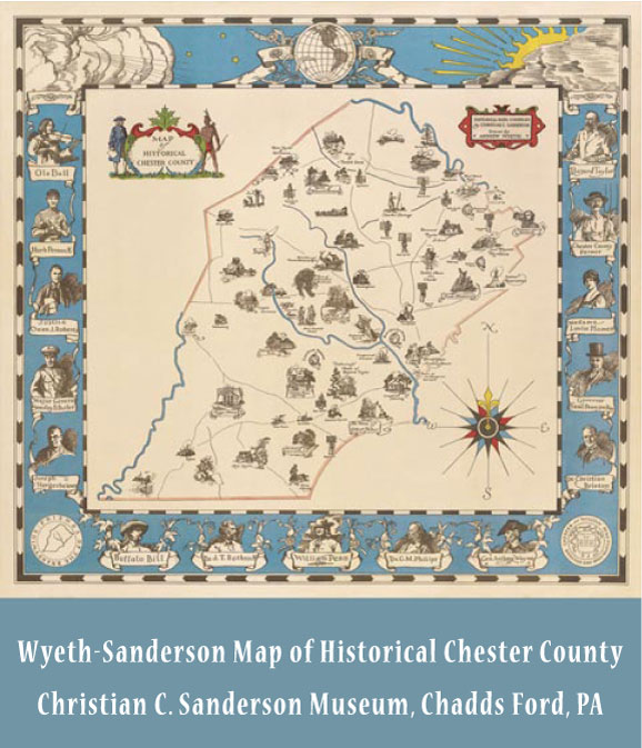 Magnet , Wyeth/Sanderson Map of Historical Chester County on map accessories, map books, map pamphlets, map buttons, map pencils, map room decor, map puzzles, map name tags, map furniture, map post cards, map games, map throw blanket, map tools, map dry erase board, map paper, map lettering, map science projects, map invitations, map wall graphic, map watches,